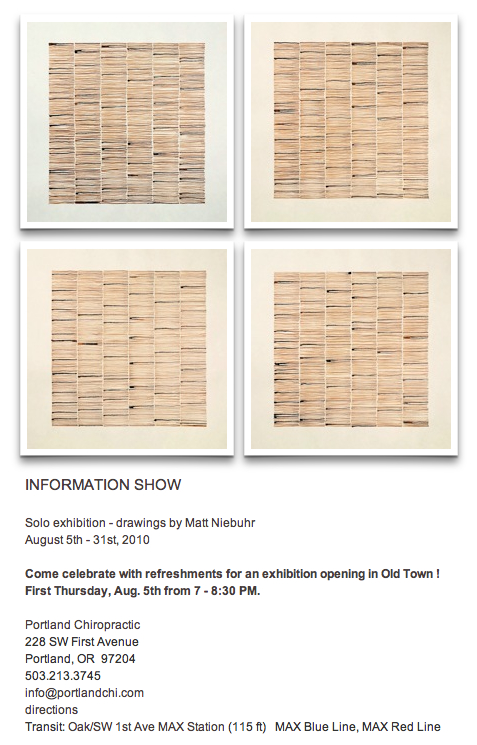 Information Show - drawings by Matt Niebuhr